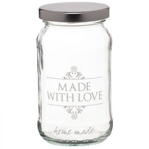 KitchenCraft Home Made Traditional Glass 'Made with Love' Jar