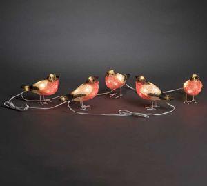 Konstsmide LED Acrylic Set of 5 Bullfinches