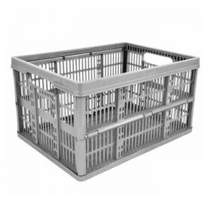 Folding Storage Crate – 32 Litre, Platinum Silver