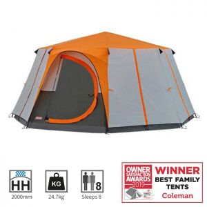 Coleman Cortes Octagon 8 Man Tent - Orange