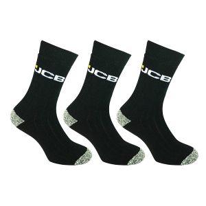 JCB Black Workwear Apparel Socks – Pack of 3