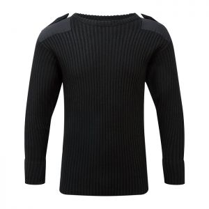 Fort Workwear 120 Crew Neck Combat Jumper - Black