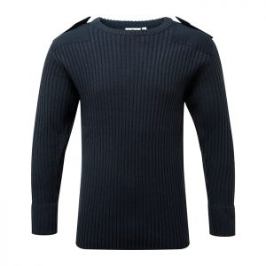 Fort Workwear 120 Crew Neck Combat Jumper - Navy