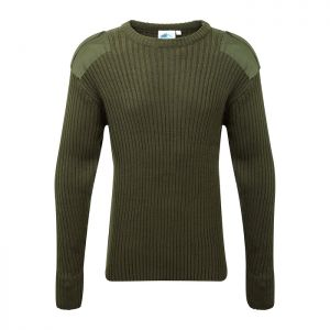 Fort Workwear 120 Crew Neck Combat Jumper - Green