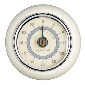 KitchenCraft 'Living Nostalgia' Magnetic Timer - Cream