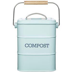 Living Nostalgia Vintage Compost Bin - Blue
