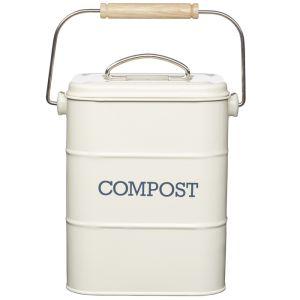 Living Nostalgia Vintage Compost Bin - Cream