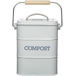 Living Nostalgia Vintage Compost Bin - Grey