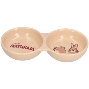 Rosewood Natural Twin Pet Dish