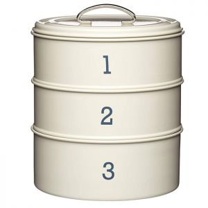 KitchenCraft 'Living Nostalgia' 3-Tier Cake Tin - Cream