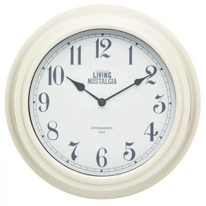 KitchenCraft 'Living Nostalgia' Wall Clock - Cream