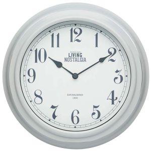 KitchenCraft 'Living Nostalgia' Wall Clock - Grey
