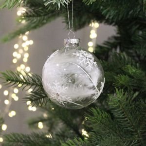 Festive White Feather Bauble