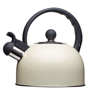 KitchenCraft 'Living Nostalgia' Whistling Kettle, 1.3 Litre - Cream