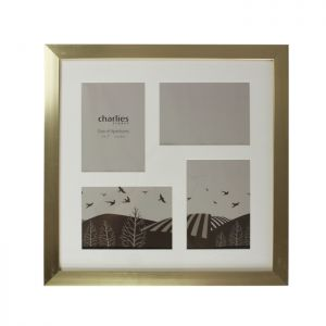 4 Aperture Photo Frame, Gold