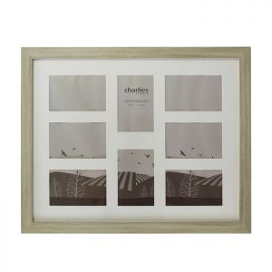 8 Aperture Photo Frame, Vintage Cream