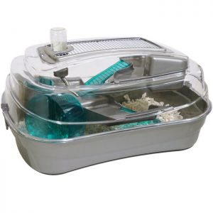 Rosewood Abode Mouse and Dwarf Hamster Cage - Silver