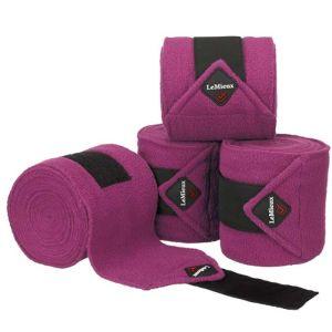 Le Mieux Luxury Polo Bandages Set of 4 - Plum