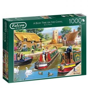 A Busy Day at the Canal Jigsaw Puzzle - 1000 Pieces