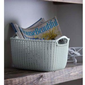 Curver Knit Rectangular Storage Basket - 8 Litre, Blue