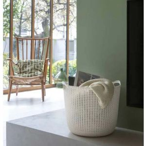 Curver Knit Basket - 30 Litre, Oasis White