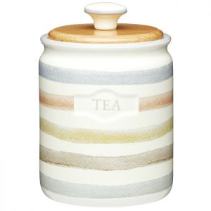 KitchenCraft Tea Canister - Classic Striped