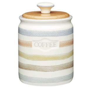 KitchenCraft Coffee Canister - Classic Striped