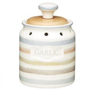 KitchenCraft Garlic Jar - Classic Striped