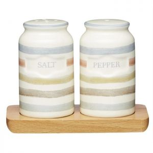KitchenCraft Salt and Pepper Shakers - Classic Striped