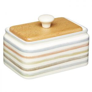 KitchenCraft Butter Dish - Classic Striped