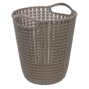 Curver Knit Paper Basket – 7 litres, Harvest Brown