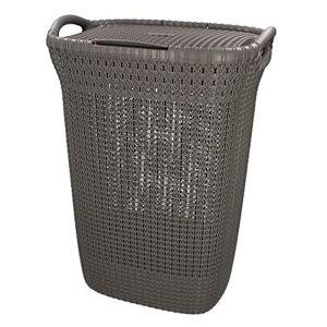 Curver Knit Laundry Hamper - 57 Litres, Harvest Brown