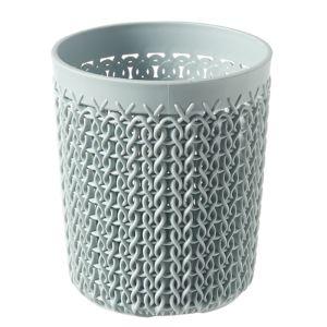 Curver Knit Small Storage Pot, Misty Blue