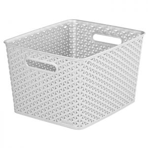 Curver My Style Large Rectangle Basket - 18 Litre, Grey