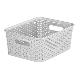 Curver My Style Small Rectangle Basket – 4 Litre, Grey