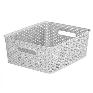 Curver My Style Medium Rectangle Basket – 13 Litre, Grey