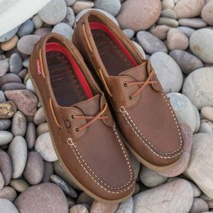 Chatham Mens Galley II Deck Shoes - Tan
