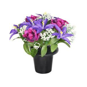 Sincere UK Lilly & Rose Gravepot - Purple, 25cm
