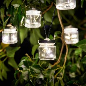 Smart Solar Firefly Jar String Lights