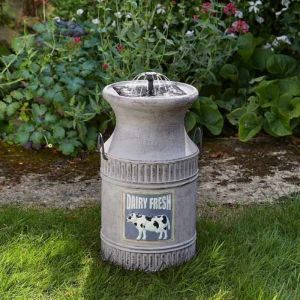 Smart Solar Milk Churn Fountain
