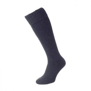 HJ Hall Wellington Boot Sock - Blue Marl