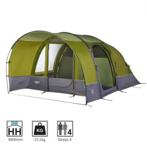 Vango Capri 400 Airbeam Tent, Herbal - 2018
