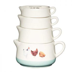 KitchenCraft Measuring Cups, Set of 4 - Apple Farm