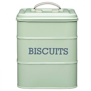 KitchenCraft 'Living Nostalgia' Biscuit Tin - Green