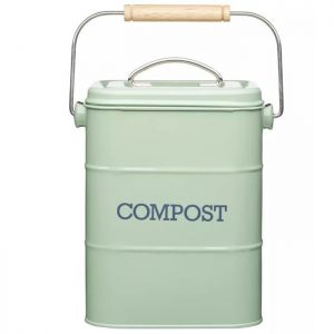 Living Nostalgia Metal Compost Bin - Green