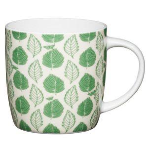 KitchenCraft Mug, 425ml - Green Leaf