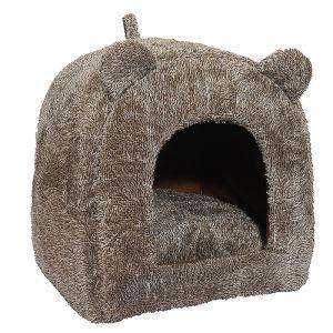 Rosewood 40 Winks Teddy Bear Cat Bed - Brown