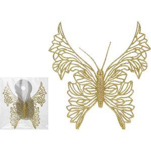Koopman Gold Butterfly Decoration - 18cm