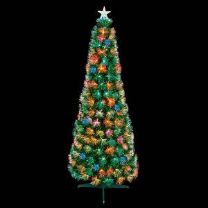 Premier Slim Flashing Multicolour Fibre Optic Tree - 1.2m