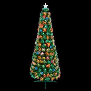 Premier Slim Flashing Multicolour Fibre Optic Tree - 1.8m